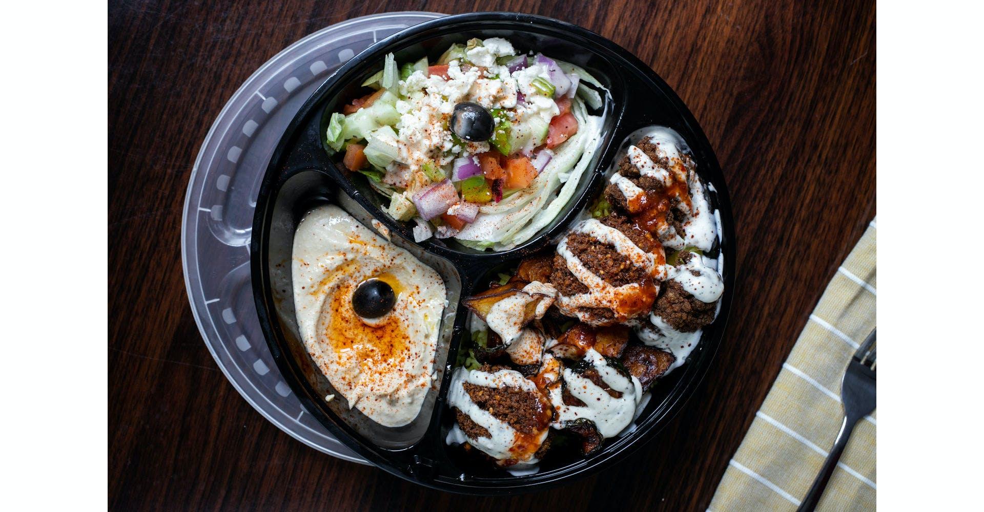 Veggie Plate from Austin's Habibi in Austin, TX