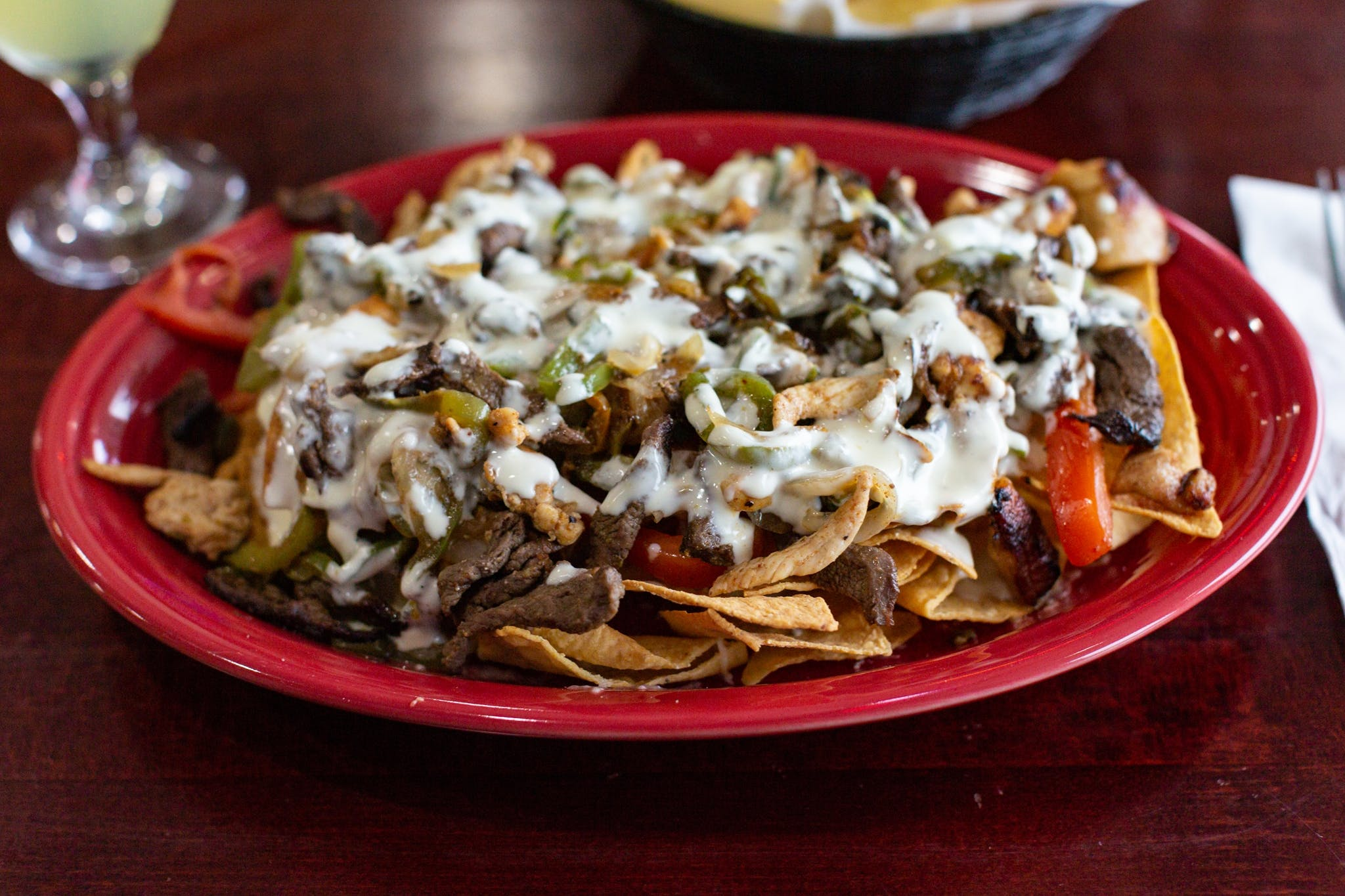 Nachos Fajitas from Acapulco Mexican Grill in Lawrence, KS