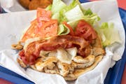 Bacon & Swiss Chicken Pita Sandwich from Niko's Gyros in Appleton, WI