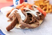 Gyro Sandwich from Niko's Gyros in Appleton, WI