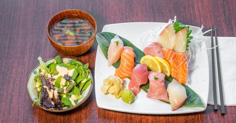 Nigiri (5 Pieces) & Sashimi (5 Pieces) from Sakura Sushi in San Rafael, CA