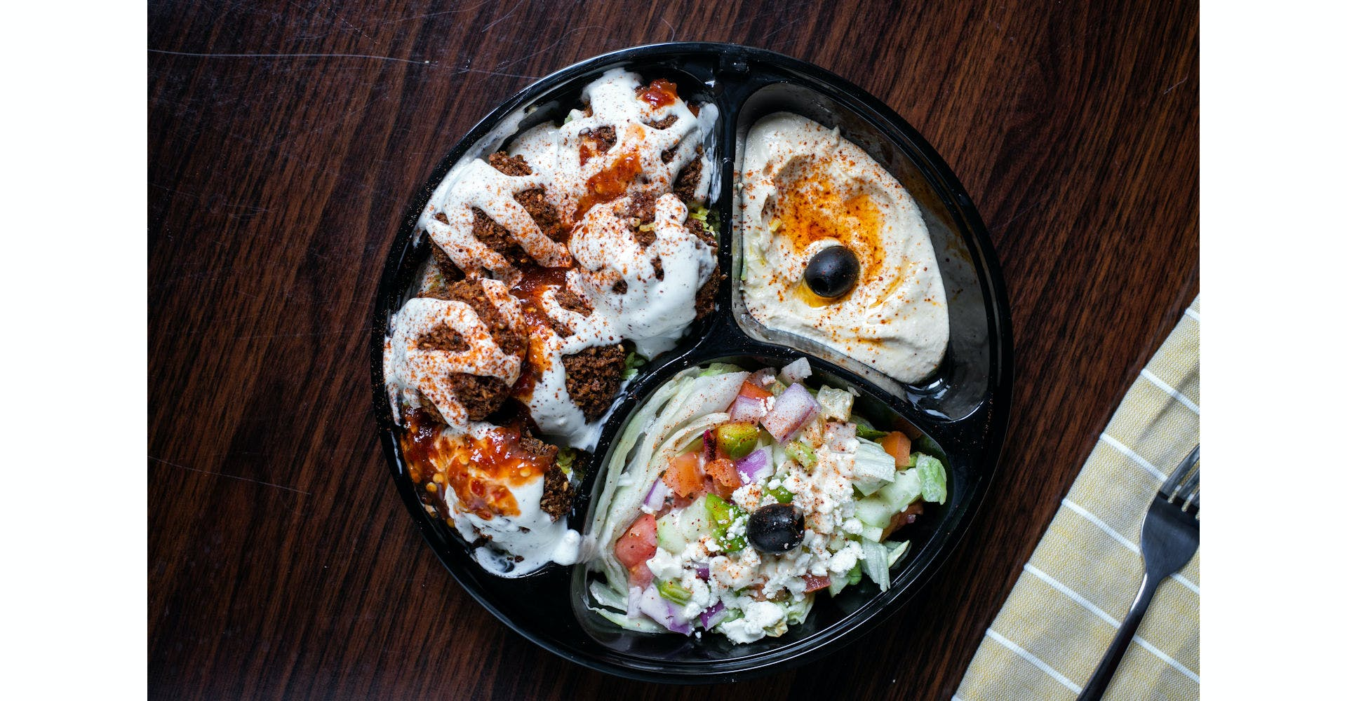 Falafel Plate from Austin's Habibi in Austin, TX