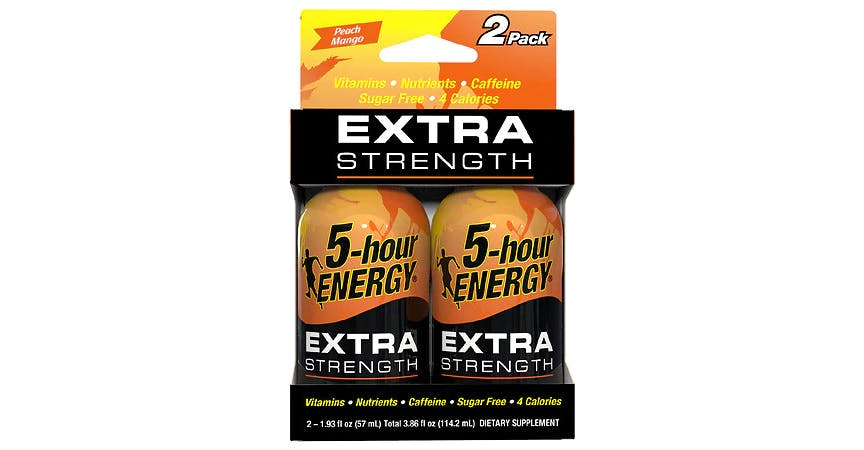5-Hour ENERGY Shot Extra Strength Peach Mango 1.93 oz Bottles (2 ct) from EatStreet Convenience - W Mason St in Green Bay, WI