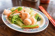 L-22 Shrimp with Mixed Vegetables from Lucky Kitchen - North Campus in Ann Arbor, MI