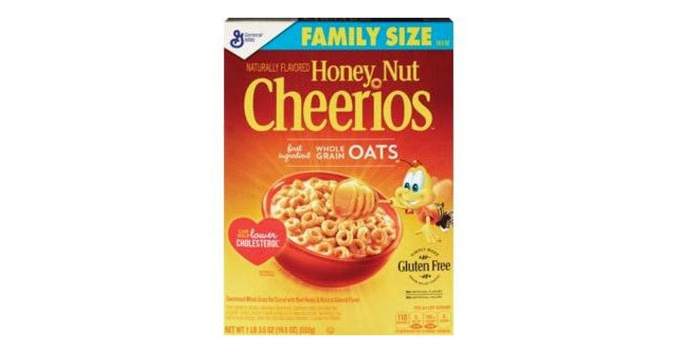 General Mills Honey Nut Cheerios Cereal Family Size (19.5 oz) from CVS - Main St in Green Bay, WI
