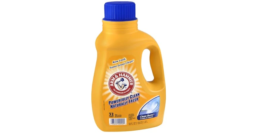 Arm & Hammer 2x Concentrated Liquid Laundry Detergent Clean Burst (50 oz) from EatStreet Convenience - SW Wanamaker Rd in Topeka, KS