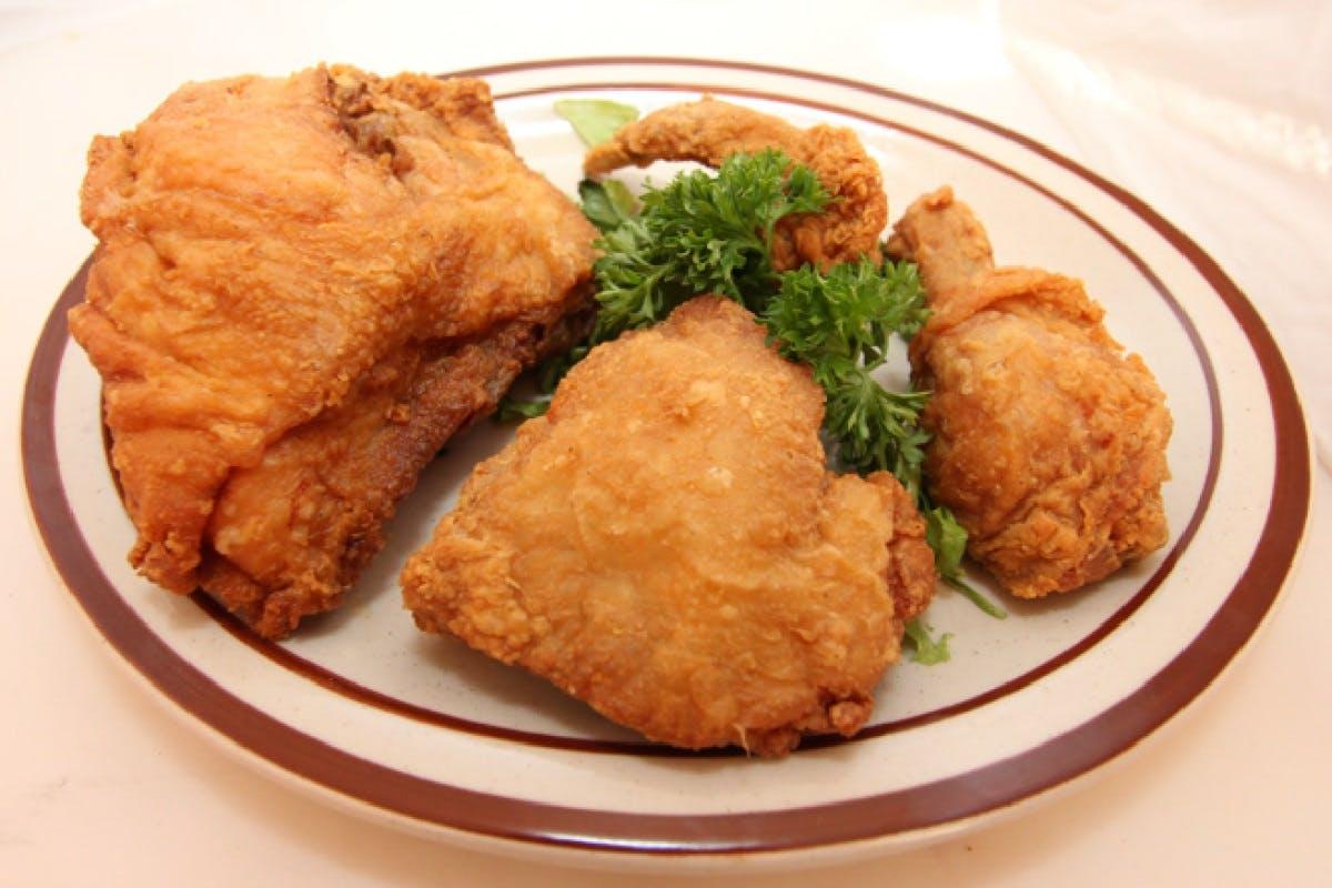 Broasted Chicken Dinner from Golden Basket Restaurant in Green Bay, WI