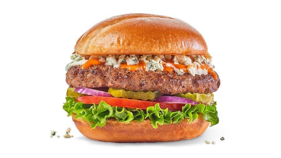 Buffalo Blue Burger from Buffalo Wild Wings - Manitowoc in Manitowoc, WI