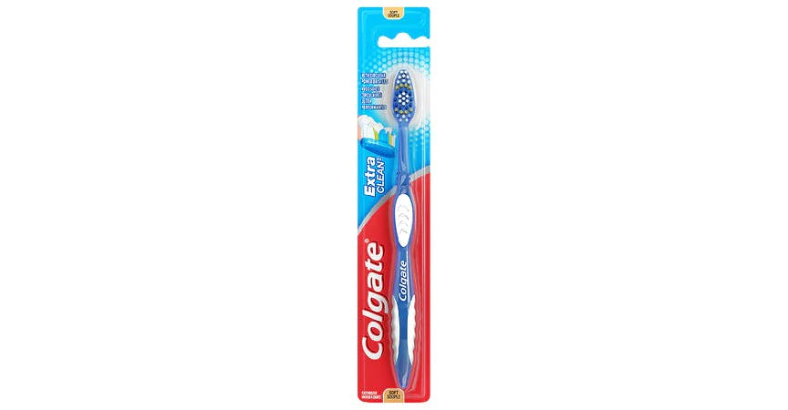 Colgate Extra Clean Full Head Toothbrush, Soft (1 ct) from EatStreet Convenience - SW Wanamaker Rd in Topeka, KS