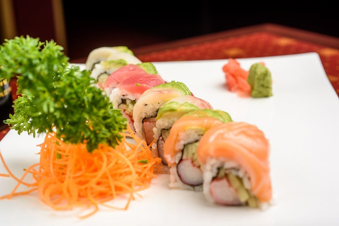 Rainbow Roll from Ling's Bistro in Topeka, KS