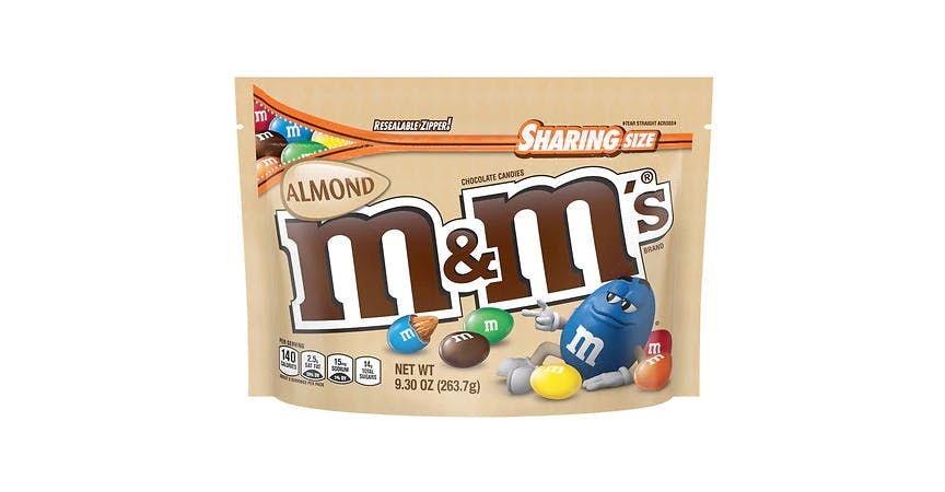 M&M's Almond Sharing Size (9 oz) from EatStreet Convenience - W Mason St in Green Bay, WI