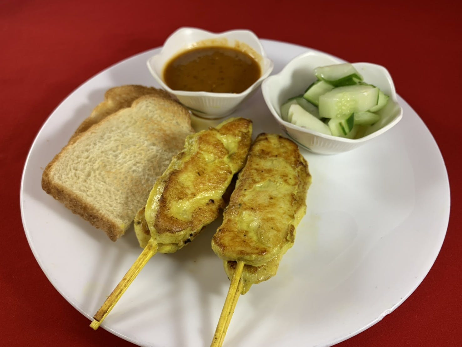 6. Chicken Satay (Dinner) from Sa-Bai Thong - University Ave in Madison, WI