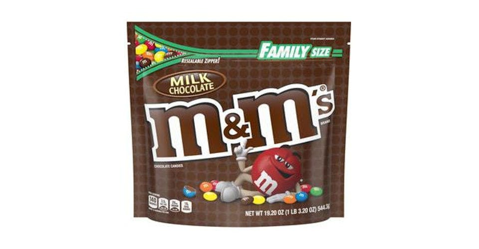 M&M's Milk Chocolate Candy Family Size Bag (19.2 oz) from CVS - Main St in Green Bay, WI
