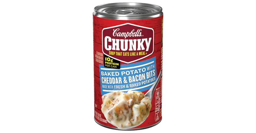 Campbell's Chunky Baked Potato with Cheddar & Bacon Bits Soup (18.8 oz) from EatStreet Convenience - W Mason St in Green Bay, WI