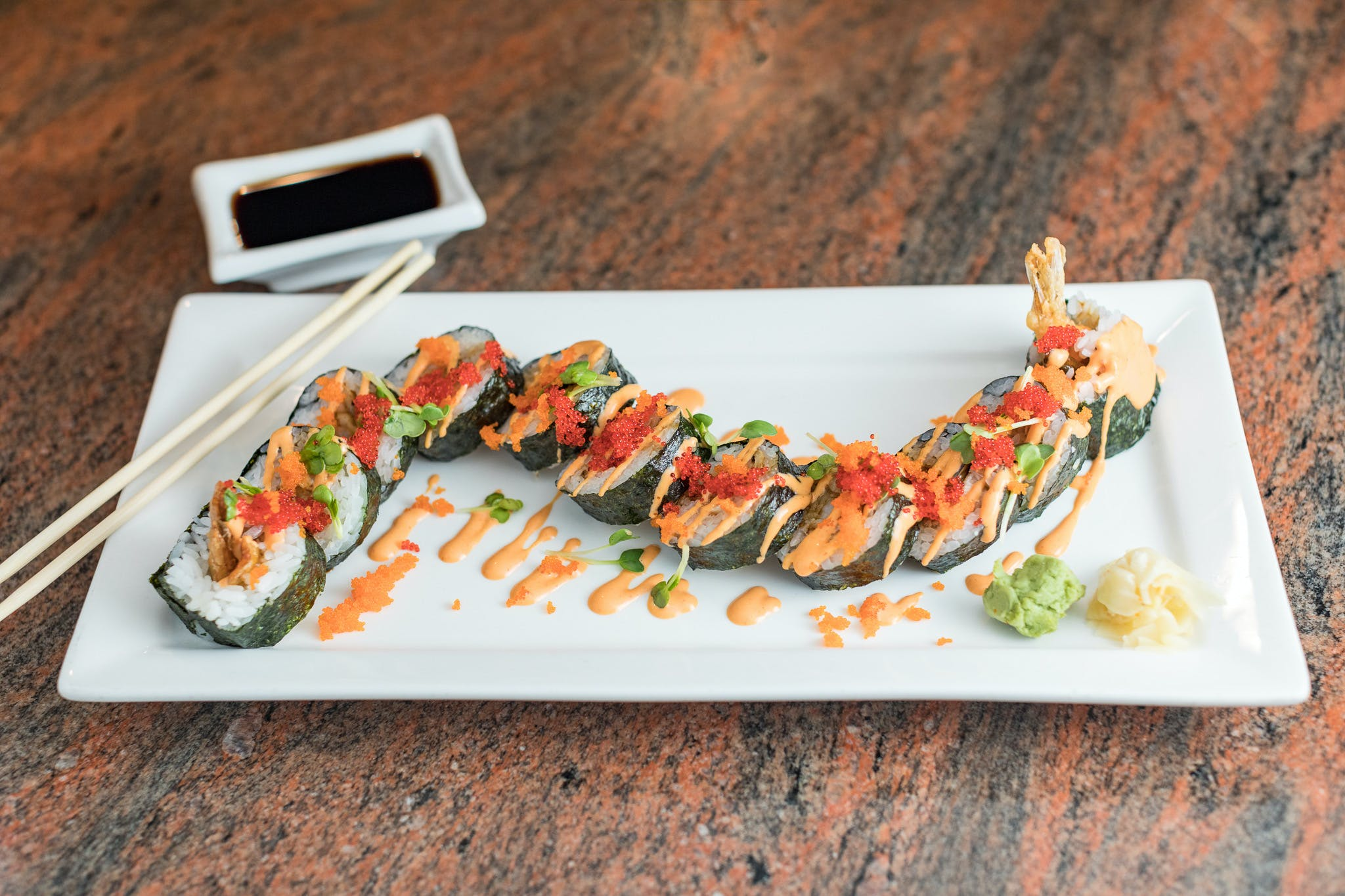 Red Dragon Roll from Shanghai Bistro in Eau Claire, WI