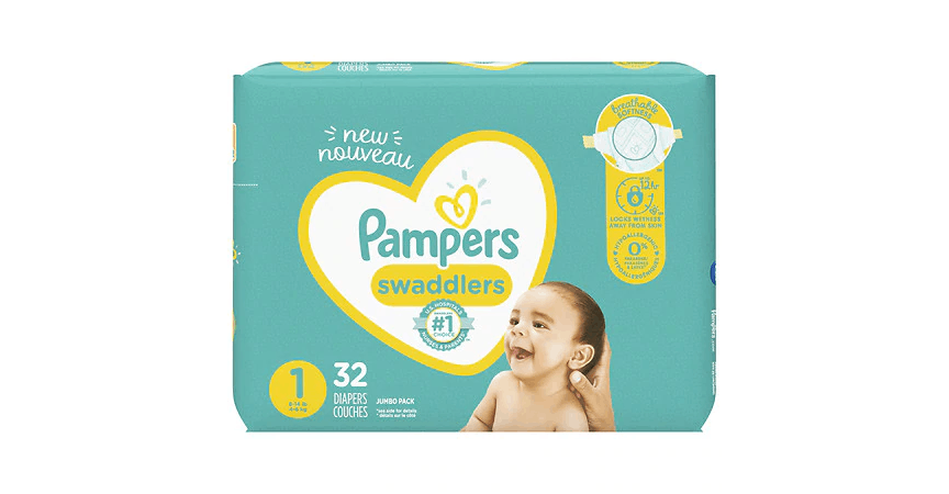 Pampers Swaddlers 1 (0-14 lbs) (32 ct) from EatStreet Convenience - SW Wanamaker Rd in Topeka, KS