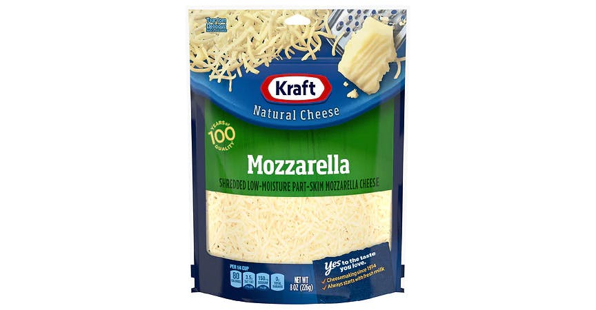 Kraft Mozzarella Shredded Cheese (8 oz) from EatStreet Convenience - Historic Holiday Park North in Topeka, KS