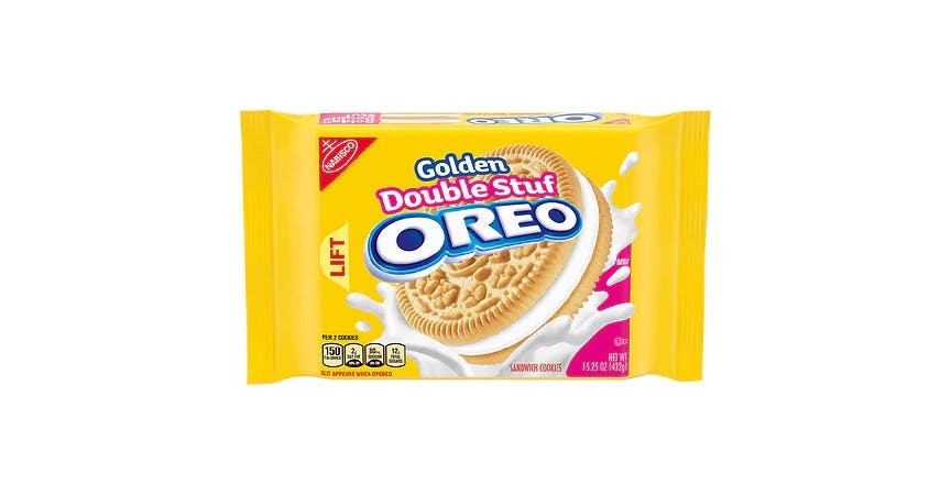 Oreo Golden Double Stuf Cookies Golden (15 oz) from EatStreet Convenience - W Mason St in Green Bay, WI