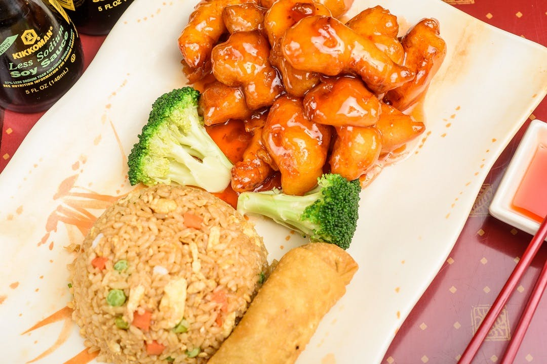 C14. Honey Chicken (Dinner Combo) from Ling's Bistro in Topeka, KS