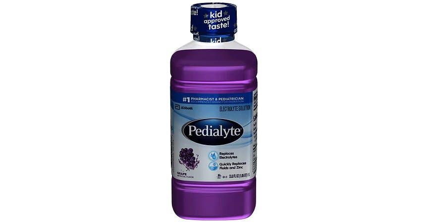 Pedialyte Electrolyte Solution Grape (34 oz) from EatStreet Convenience - W Mason St in Green Bay, WI