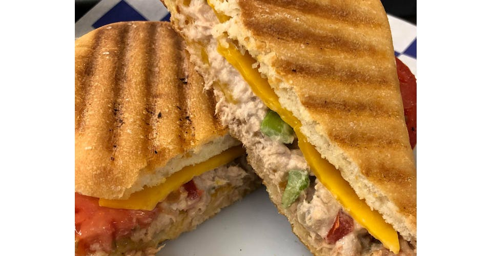 Tuna Melt Panini from Basics Co-op Cafe in Janesville, WI
