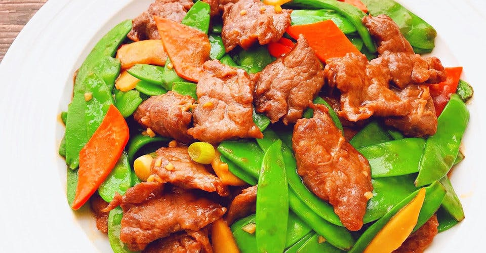 Beef with Snow Peas from China Gate Restaurant in Kimberly, WI