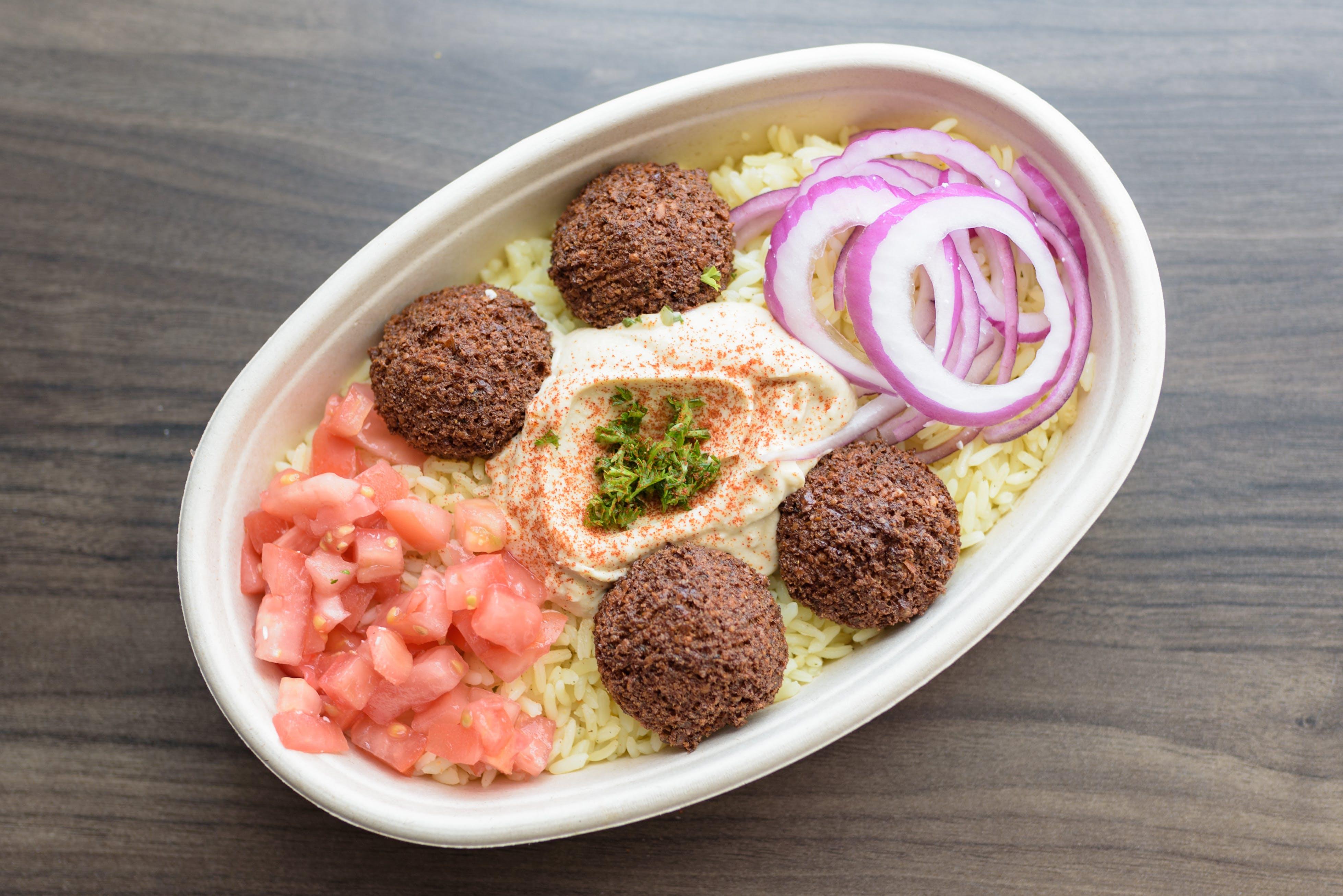 Falafel Bowl from Baba Dari Ann Arbor in Ann Arbor, MI