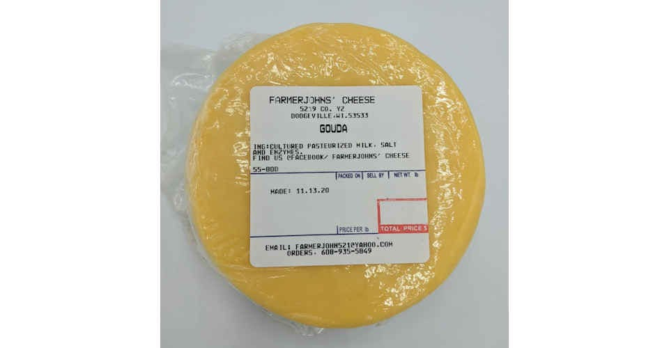 Gouda Cheese from Vitruvian Farms in Madison, WI