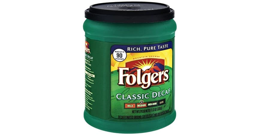 Folgers Classic Decaf Ground Coffee (11.3 oz) from EatStreet Convenience - W Mason St in Green Bay, WI