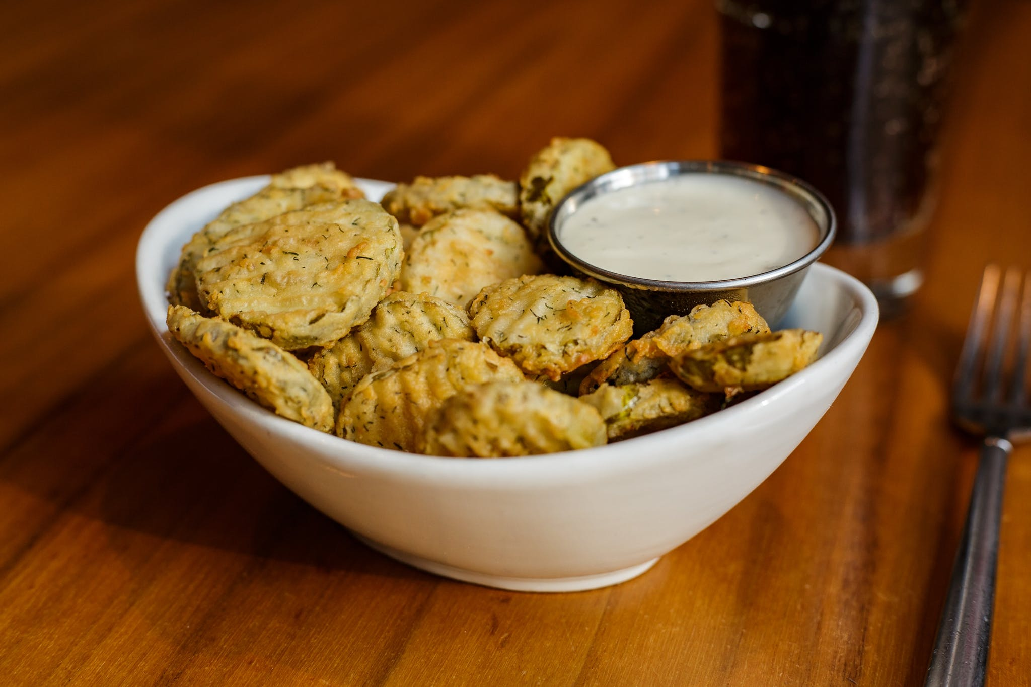 Fried Pickles from DLUX in Madison, WI