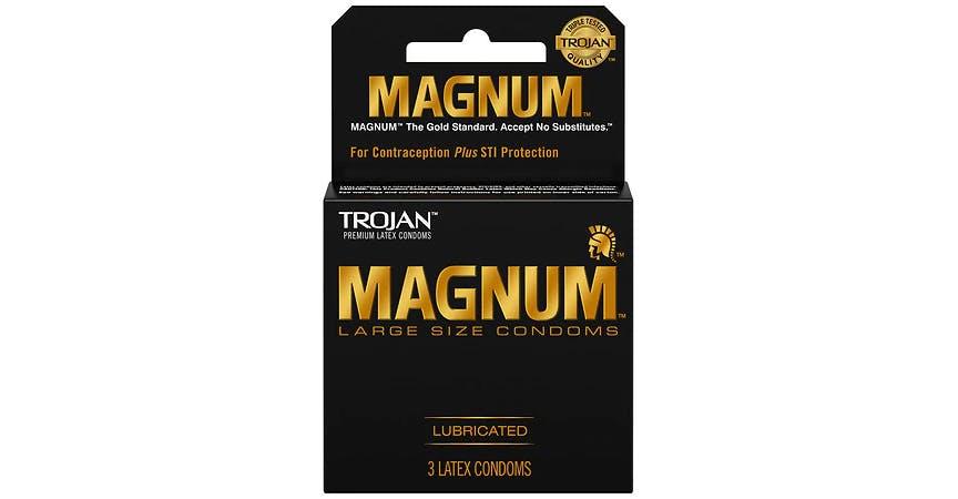 Trojan Magnum Large Size Condoms (3 ct) from EatStreet Convenience - SW Wanamaker Rd in Topeka, KS