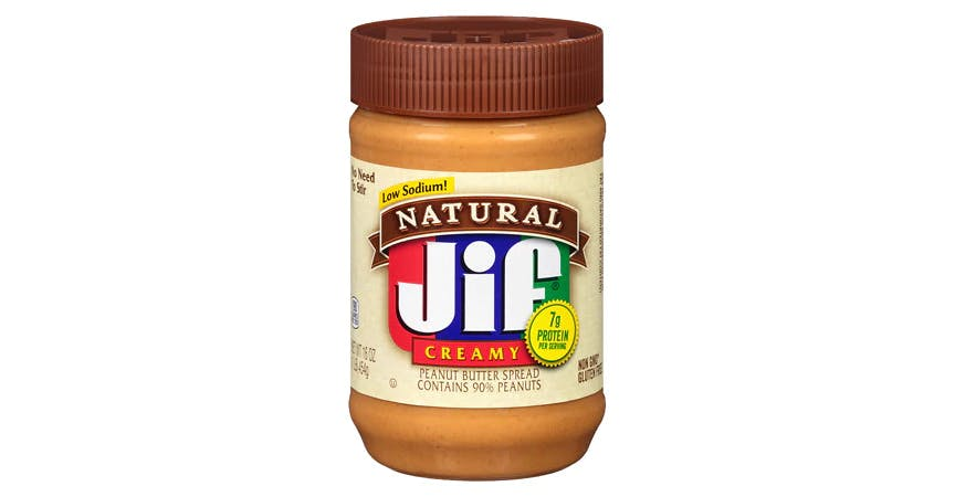 Jif Natural Creamy Peanut Butter (16 oz) from EatStreet Convenience - W Mason St in Green Bay, WI