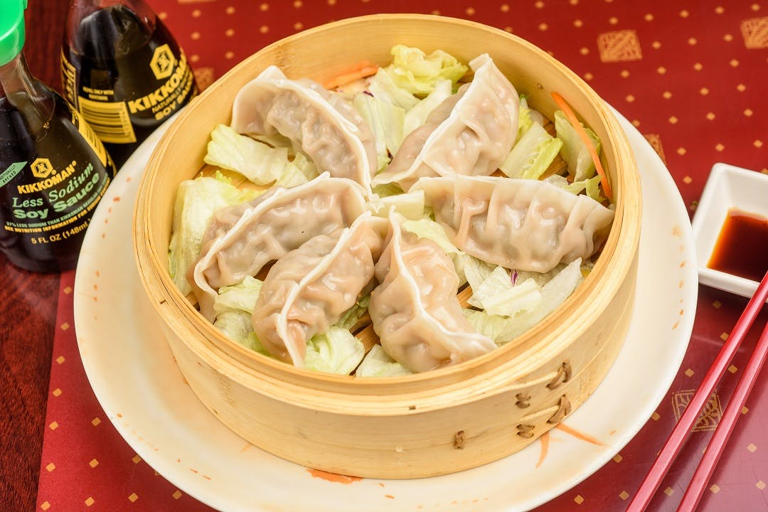 A 5. Fried or Steamed Dumpling (6 pcs) from Ling's Bistro in Topeka, KS