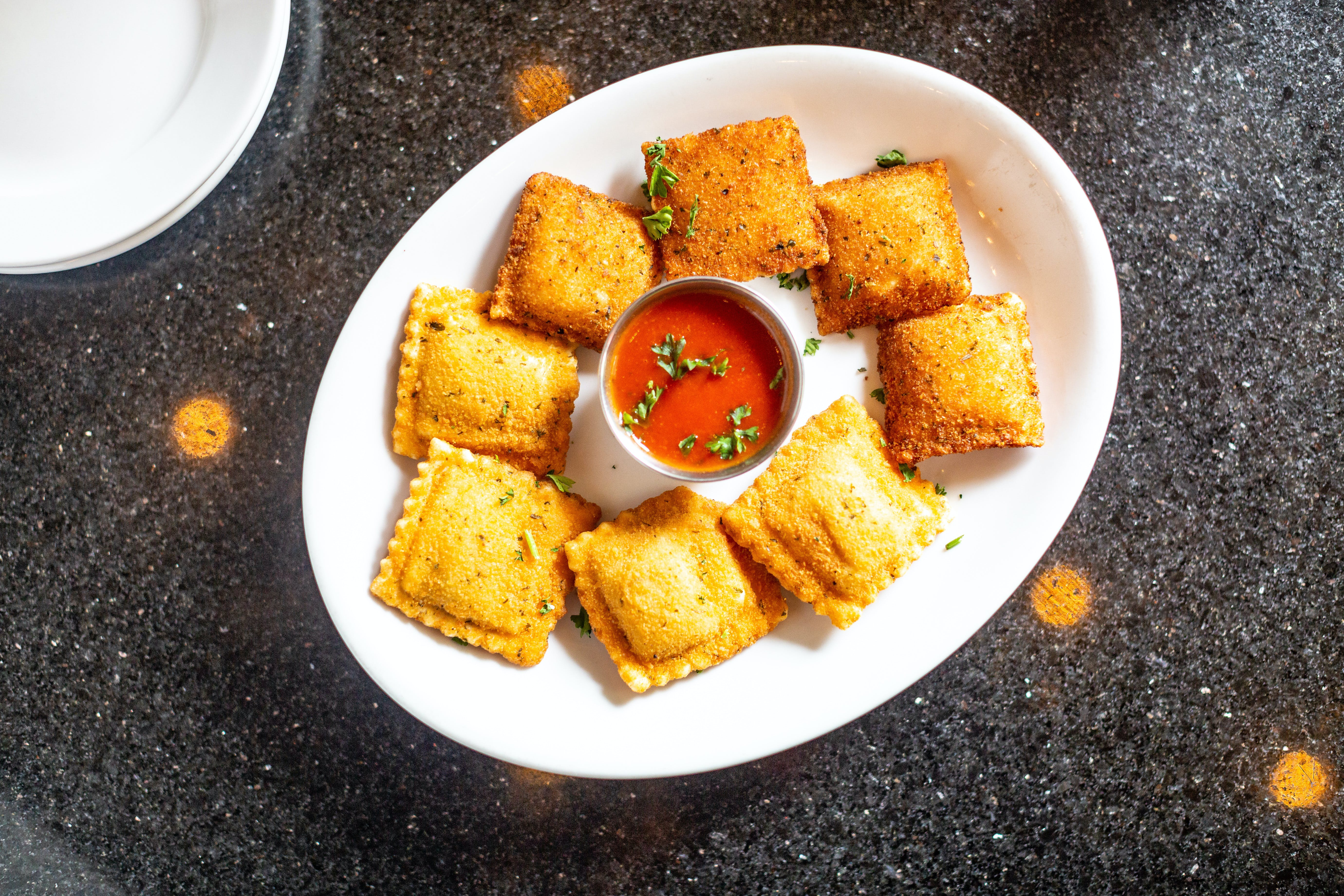 Toasted Ravioli (Appetizer) from The Mad Greek in Lawrence, KS