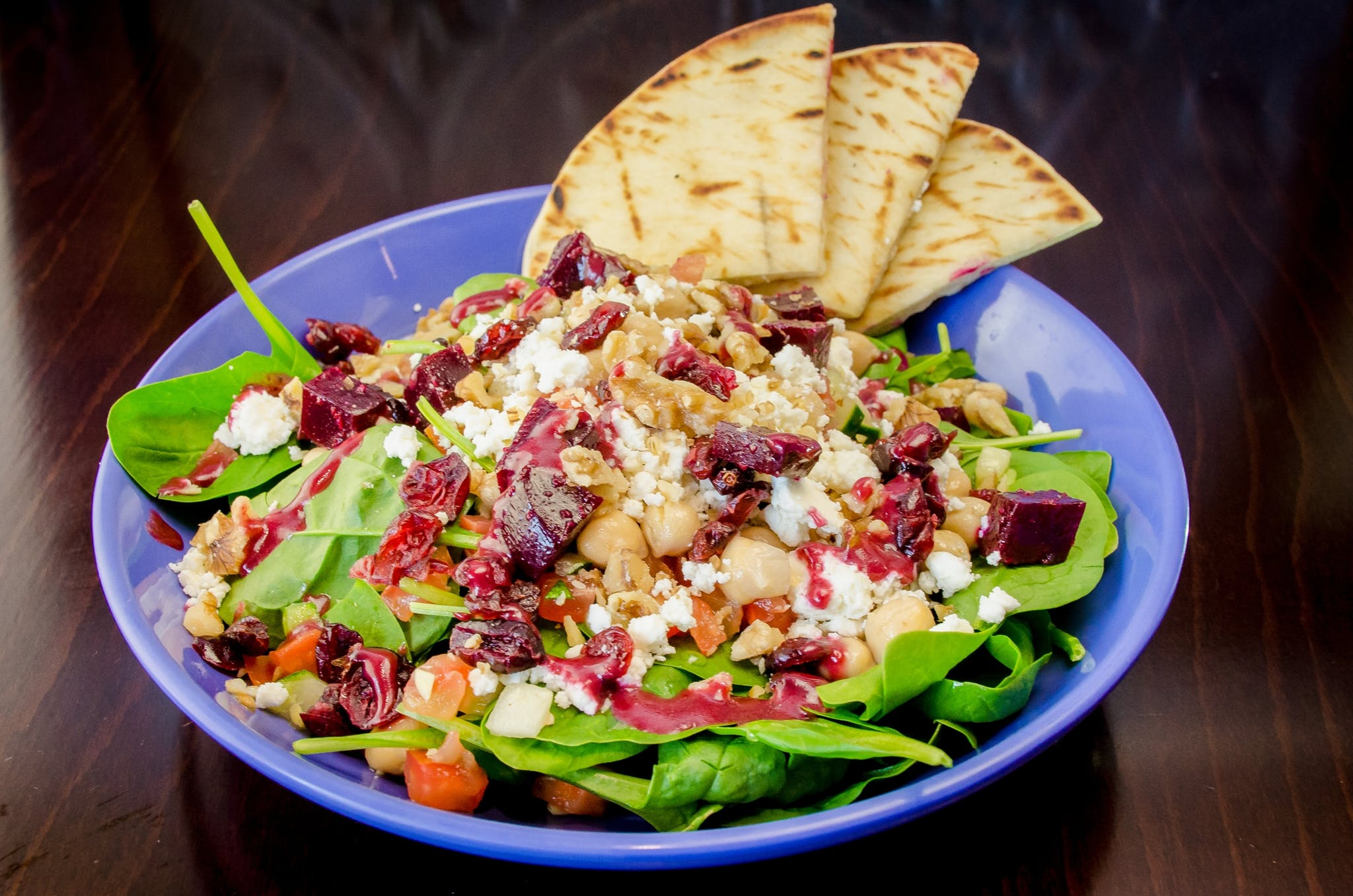Spinach Salad from Freska Mediterranean Grill in Middleton, WI