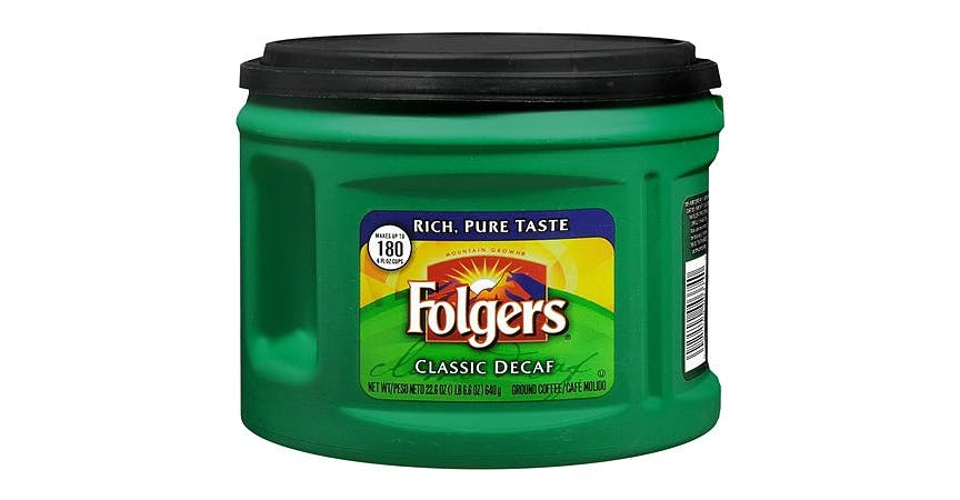 Folgers Classic Decaf Ground Coffee (23 oz) from EatStreet Convenience - W Mason St in Green Bay, WI