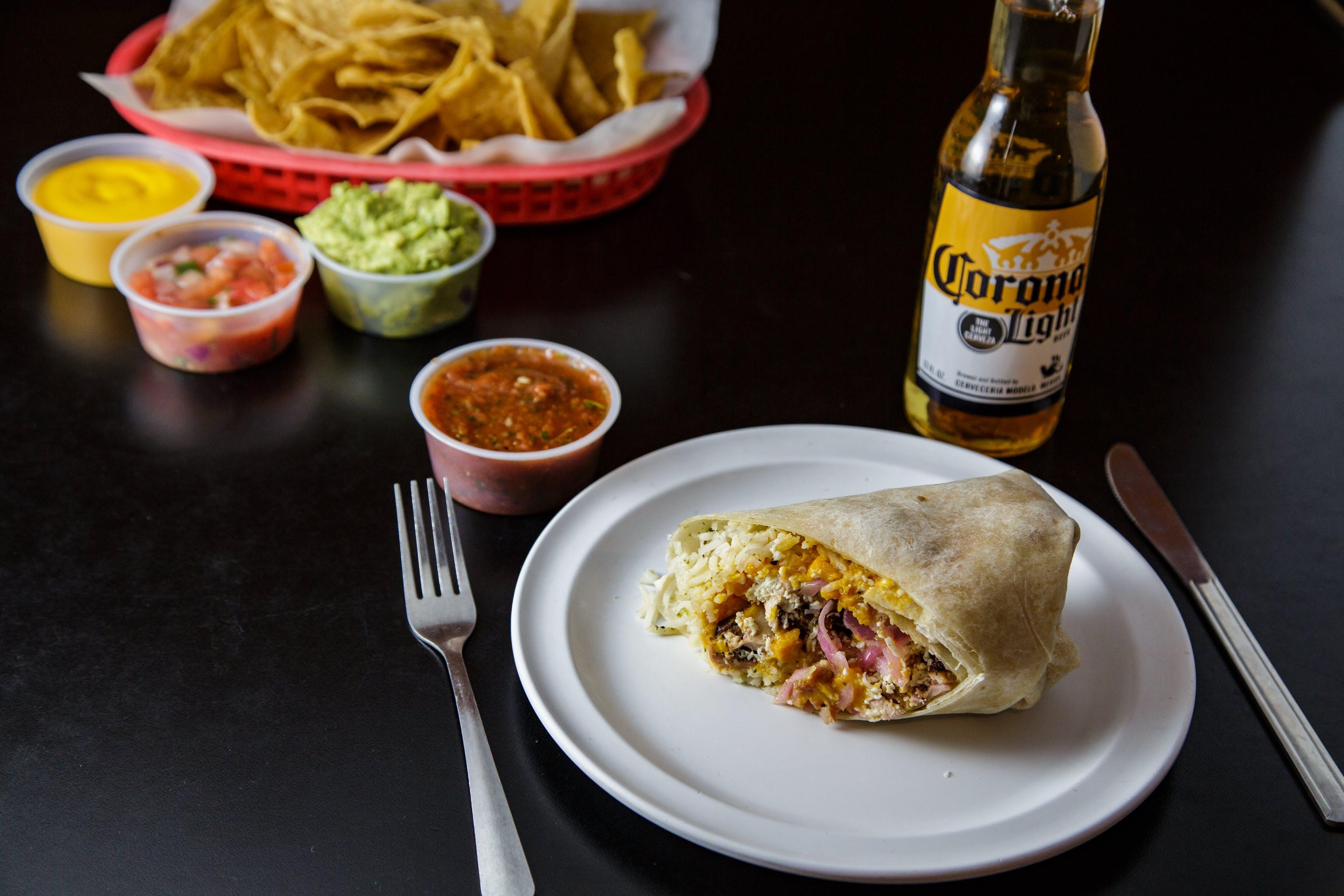 Sheh-meh-neh Burrito from Burrito Drive in Madison, WI