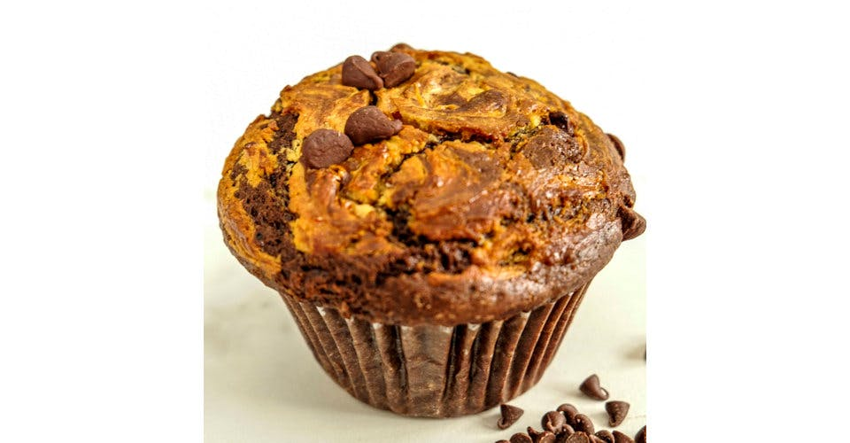 Chocolate Muffin with Peanut Butter Filling from Patina Coffeehouse in Wausau, WI