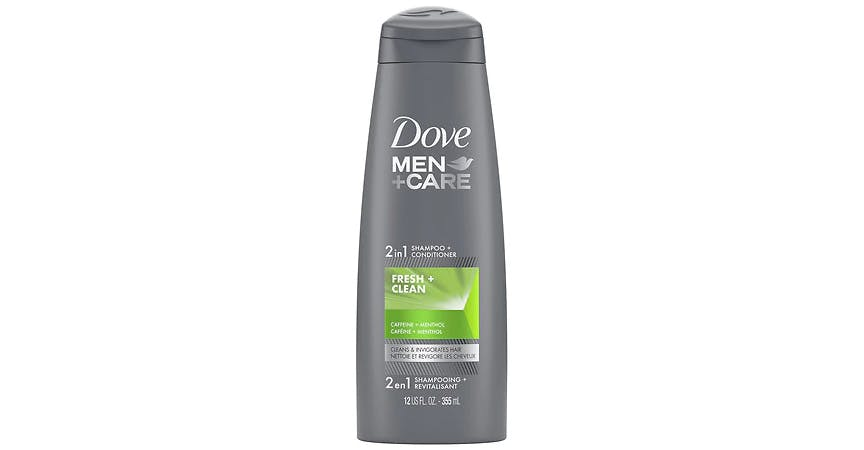 Dove Men+Care 2 in 1 Shampoo & Conditioner Fresh & Clean (12 oz) from EatStreet Convenience - SW Wanamaker Rd in Topeka, KS