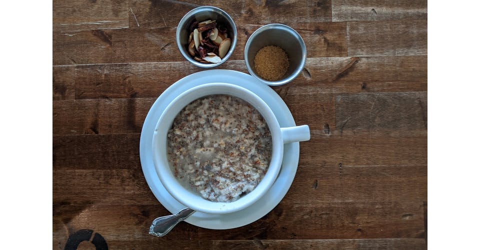 Oatmeal with Flax & Chia from Patina Coffeehouse in Wausau, WI