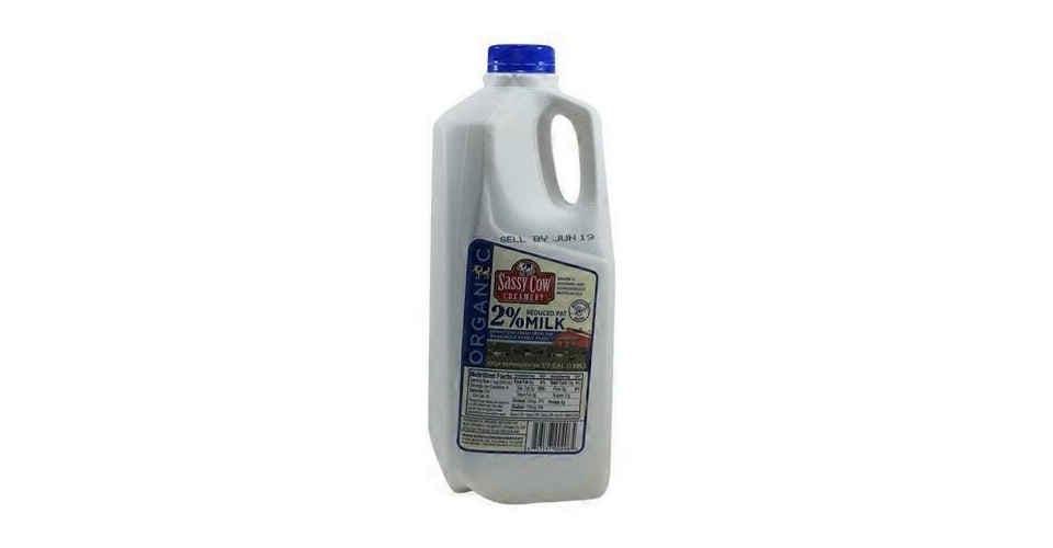 Organic 2% Milk (Half Gallon) from Vitruvian Farms in Madison, WI