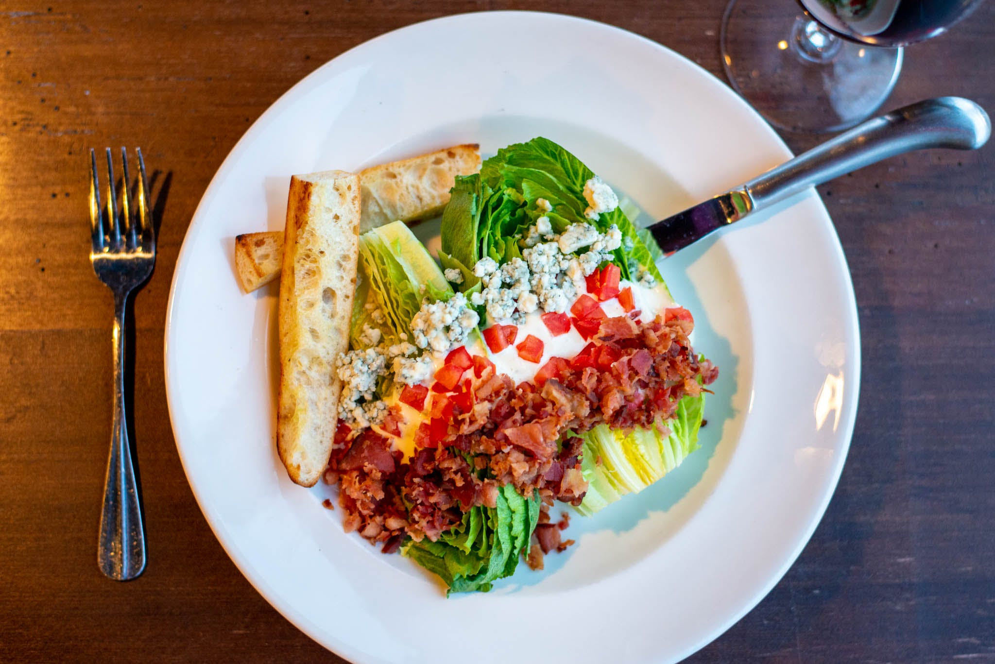 Bacon & Blue Wedge Salad from The Bottle Room in Green Bay, WI