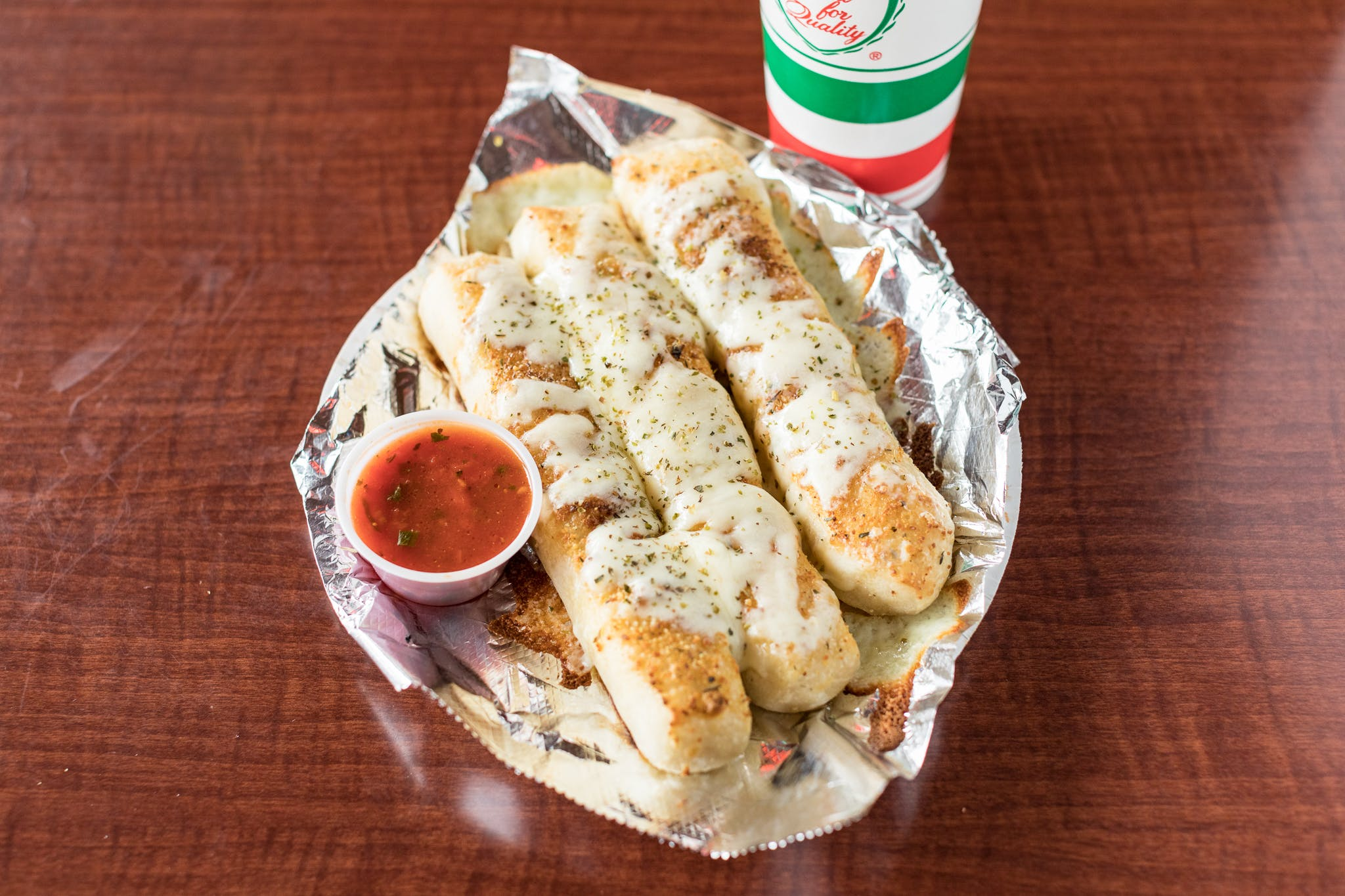 Cheesy Breadsticks from Johnny's Pizza Shop in Eau Claire, WI