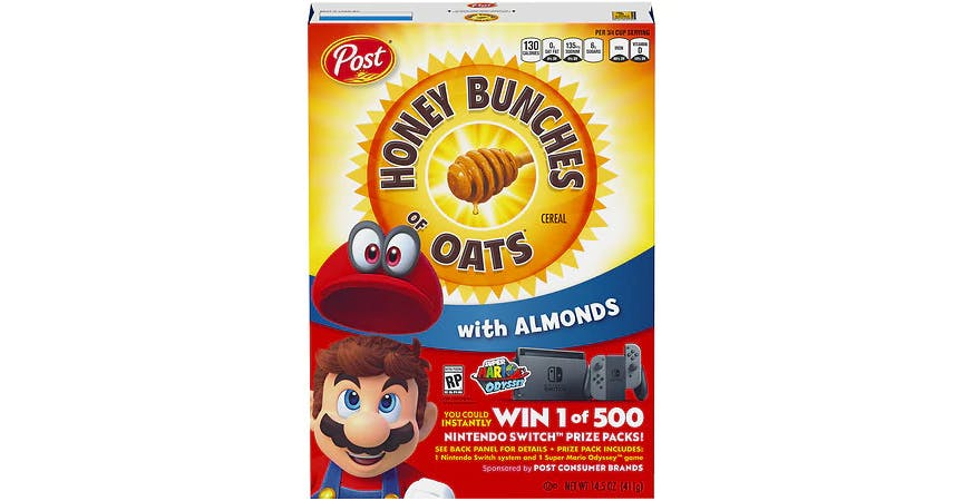 Honey Bunches of Oats Cereal with Almonds (14 oz) from EatStreet Convenience - W Mason St in Green Bay, WI