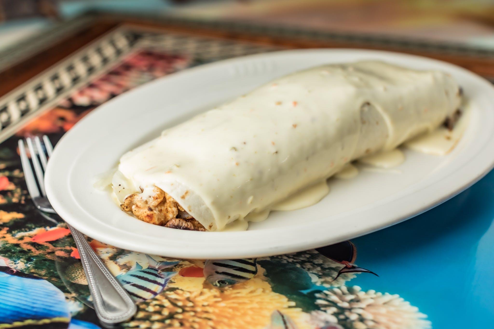 Burrito California from Casa Vallarta Mexican Restaurant in Eau Claire, WI