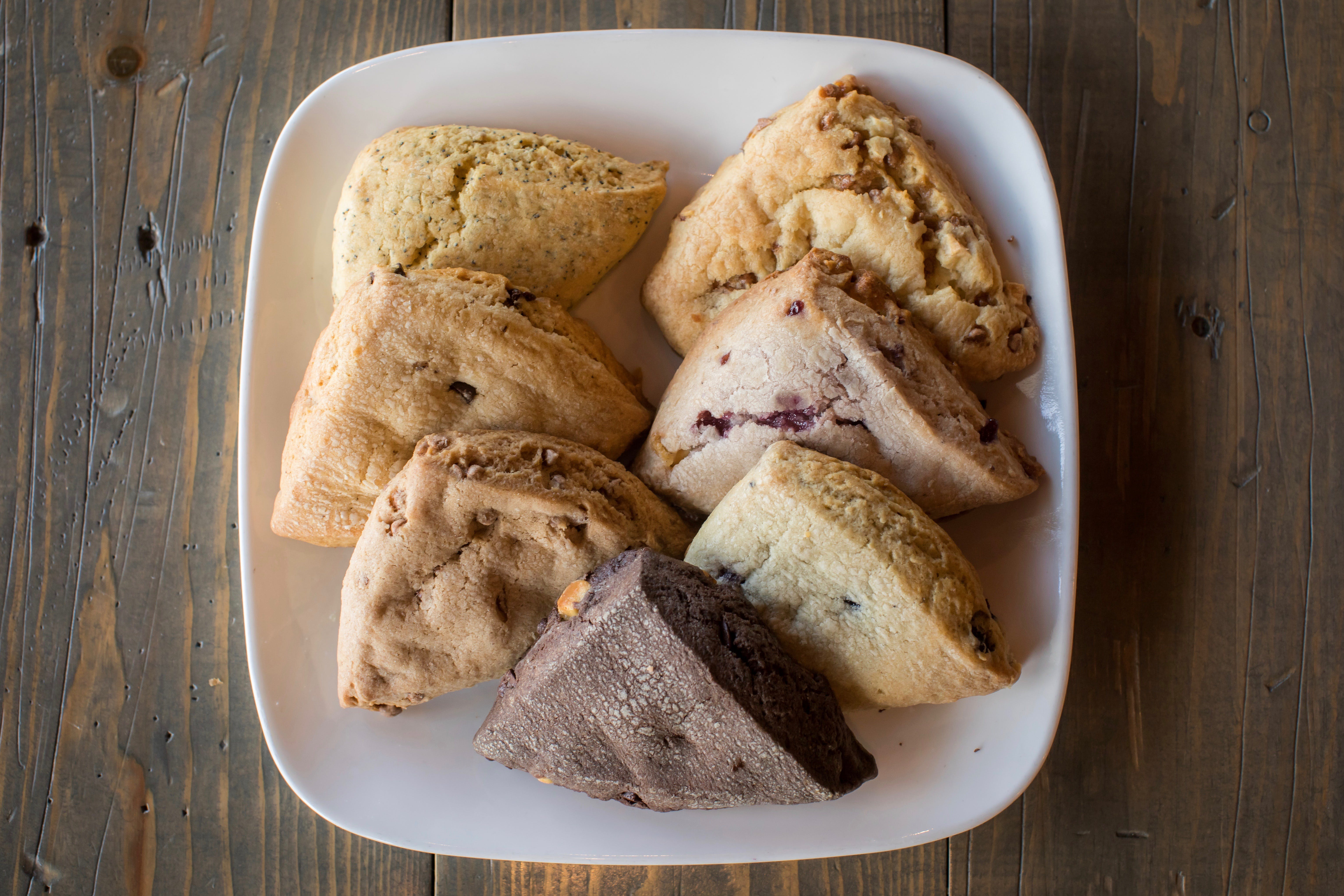 Assorted Scones from La Java - Cardinal in Green Bay, WI