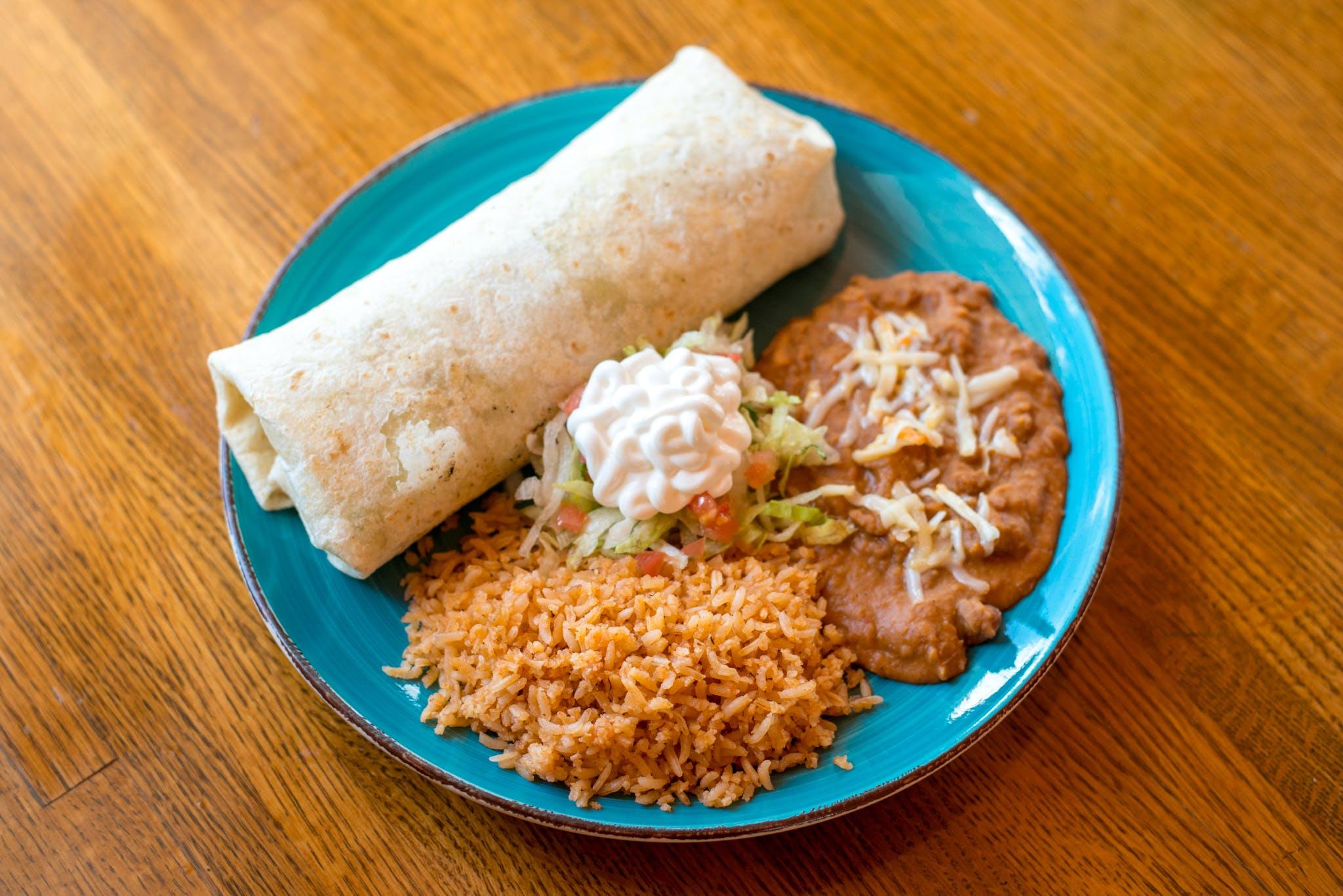 Mexicano Burrito from Taqueria Maldonado's - Main Street in Green Bay, WI