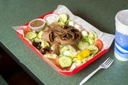 Traditional Gyro Salad from Kentro Gyros in Green Bay, WI