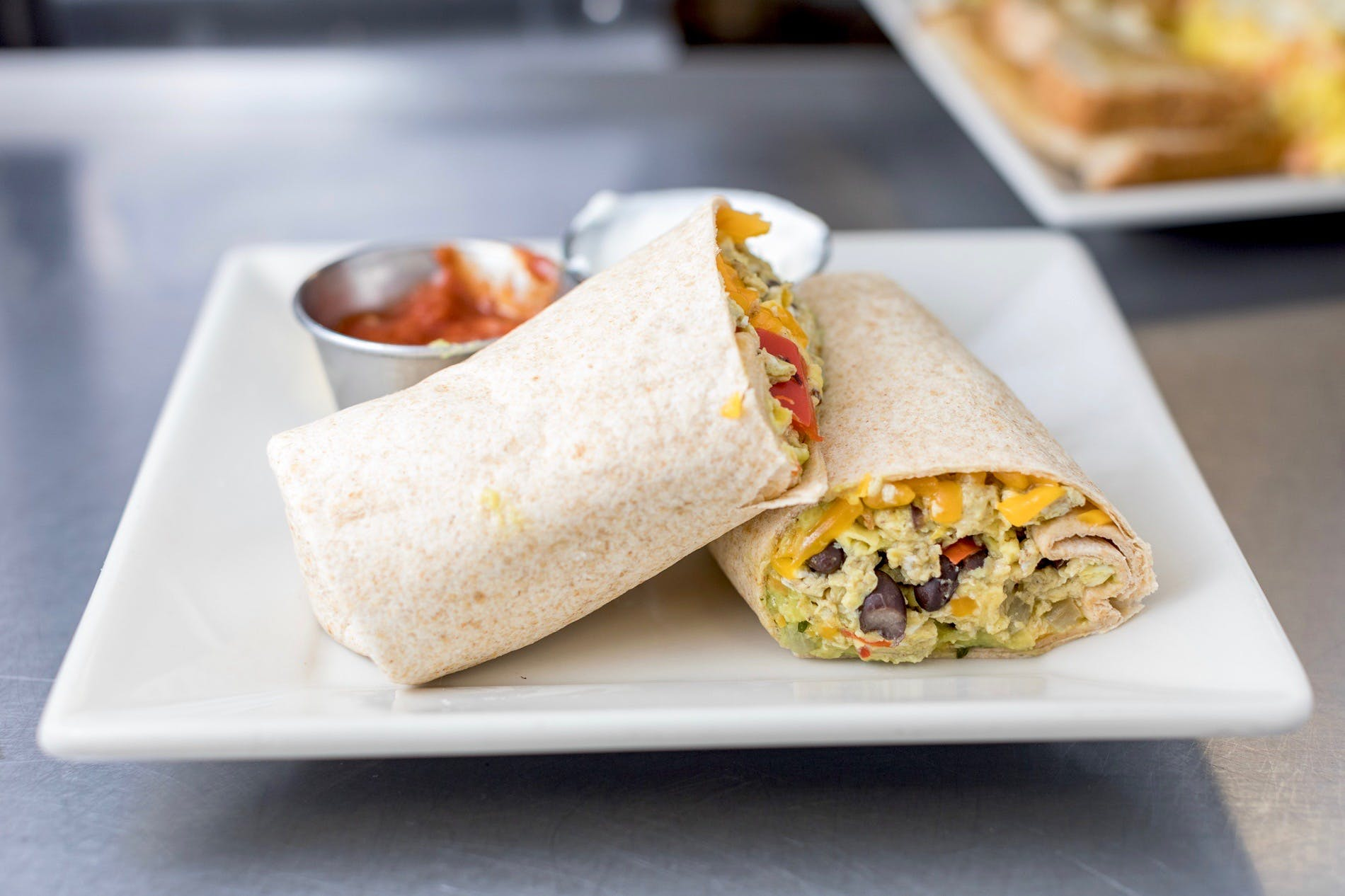 Southwest Breakfast Wrap from The French Press in Eau Claire, WI