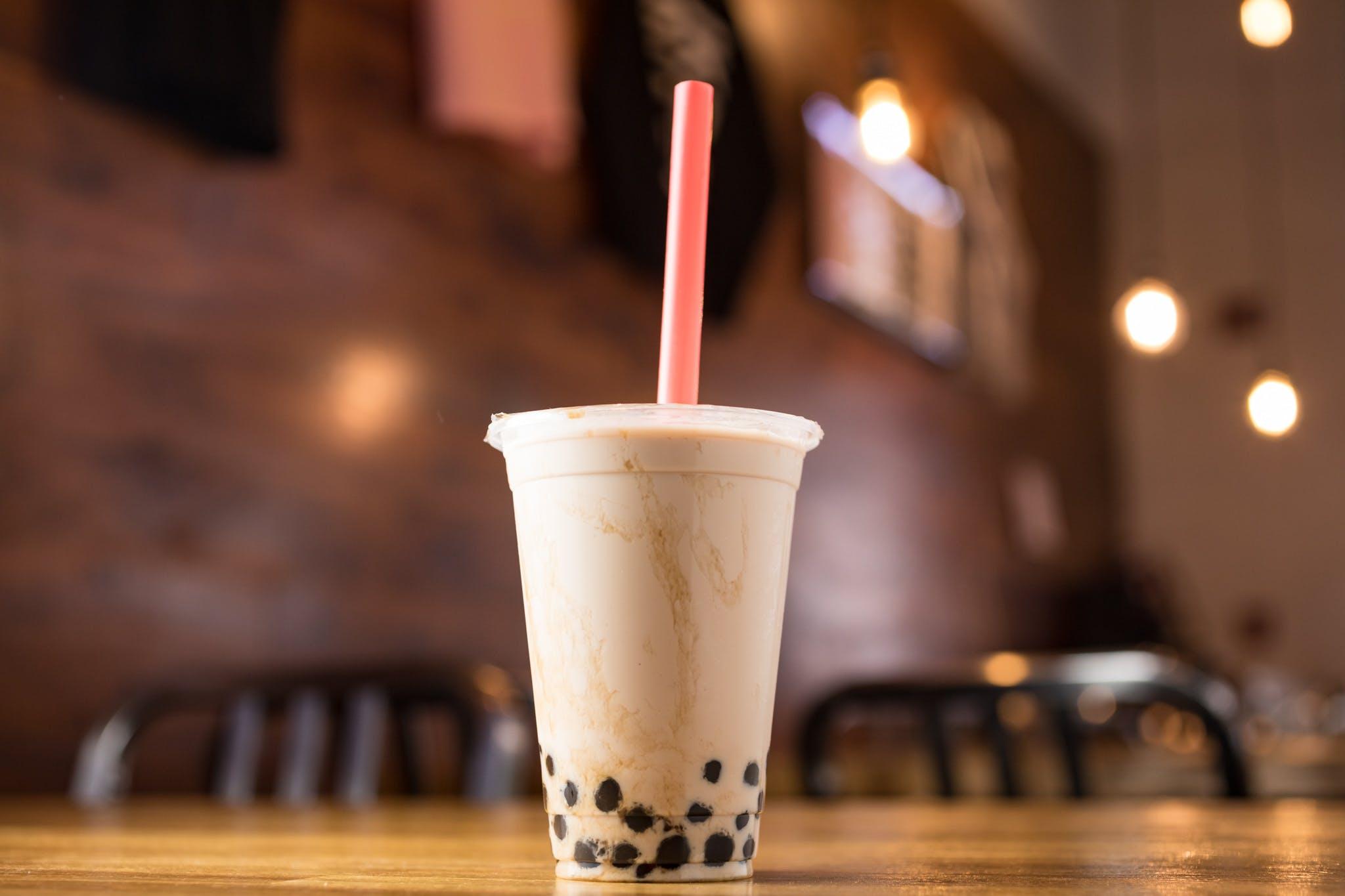 Bubble Milk Black Tea from KBG Korean BBQ & Grill in New Brunswick, NJ